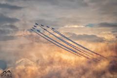 red arras (timothytripod) Tags: raf red arrows airshow sunderland 2016 jet tornado sunset sky explore