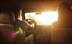 Safari, Esperana (Apmira) Tags: photography countryside driver sunset flare yellow canon canon550d jeep driving holidays portugal alentejo natural light dirt offroad adventure umm