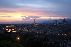 Florence Overlook (Steve Harrison Photographic) Tags: florence italy firenze view skyline sky sunset river riverarno florentine city cityscape piazzademichelangelo piazzalemichelangelo