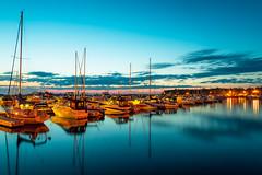 hush (JimfromCanada) Tags: sunset ontario canada reflection port marina harbor boat dock marine quiet harbour peaceful snug lakehuron portelgin