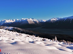 What luck (flashmick) Tags: bruce mountains canterbury canterburynz newzealand southisland snow walking hiking tramping morning winter august 2016