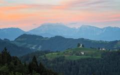 Play of clouds (Dejan Hudoletnjak) Tags: landscape sunset mountains nature slovenia hills summer stthomas church stthomaschurch clouds