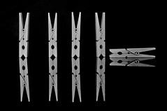 Think Different (Jordi sureda) Tags: blackandwhite blancoynegro monochrome photography different creative minimal simple pinzas jordisureda