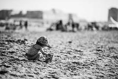 Le seau (LACPIXEL) Tags: enfant nino child plage playa beach sable arena sand seau cubo bucket ostende belgique europe jouer toplay jugar vacances vacaciones holidays noiretblanc blackandwhite blancoynegro nikon nikonfrance d4s fx flickr lacpixel