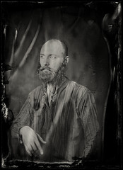 (anton_park) Tags: ambrotype analog alternativeprocess wetplatecollodion portrait sepia dreadlock face industar51 45210 largeformat 13x18 5x7 bw blackandwhite monochrome beard vintage fkd