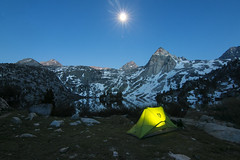 Sierra Nevada's Paradise (Explored) (Rigsby'sUniquePhotography) Tags: camping sky moon lake mountains night canon stars landscape photography photographer nemo tent pacificcresttrail bluehour sierranevada sandisk mountainrange nemoveda