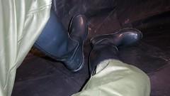 A shame it doesn't rain indoors. (essex_mud_explorer) Tags: rainwear rainboots wellies wellingtons wellingtonboots rubber rubberboots hunter gates madeinscotland gummistiefel rubberlaarzen bibandbraces raincoat waterproof