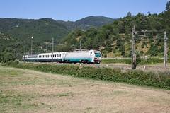 Un' E402 per il 510... (Maurizio Zanella) Tags: treni trains ferrovia railways trenitalia fs e402b115 ic35110 ic510 italia genova pietrabissara
