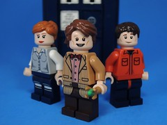 Power of Three (MrKjito) Tags: lego minifig doctor who amy pond rory williams power three tardis 11th matt smith custom minfigs