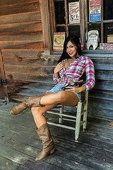 HI0A8903 (fotodan57) Tags: canon cute country awesome sunny skinny sweet sexy smile shirt shorts wild chair beautiful brunette browneyes jeans boots showing teaser teasing posing people portrait pose pinup photoshoot relaxing firsttimemodeling farm fun friend face friendly easy eyes extrafriendly excited legs outdoor outdoors outside south greatbody coke western tomboy top tied notbuttoned plaid