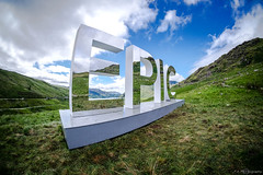 EPIC (jazzbeardie) Tags: epic art snowdon snowdonia wales northwales visitwales fuji xt1 samyang fisheye landscape mountains reflection mirror letters penypass gwynant outdoor