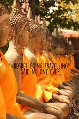 Travel quote (Garfield4989) Tags: travel traveller quote i regret going travelling said no one ever