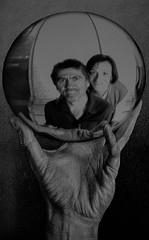 Noi nella sfera di Cristallo (emilype) Tags: emi riflessi reflection bn bnarte escher