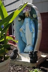 2072 the virgin known as Mary (Violentz) Tags: virginmary thevirginknownasmary mary virgin mother holymother blessedmother blessed hailmary handmaidenofthelord statue lawnstatue madonna holy icon god bible stjoseph babyjesus jesus ourlady ourladyofgrace ourladyofguadalupe ourladyoflourdes ourladyoffatima miriammotherofisa motherofgod bethlehem israelite jew nazareth galilee christianity catholic religion thetheotokos heymarywatchagonnanamethatprettylittlebaby