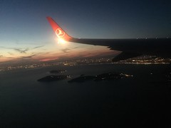 Homeland is always the best we have got... (noargument) Tags: airplanes sky nightlights night sea fly bosphorus turkishairlines istanbul