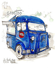 Festival Photo de La Gacilly (Croctoo) Tags: lagacilly croctoo croctoofr croquis crayon citroen hy fourgon camion aquarelle watercolor