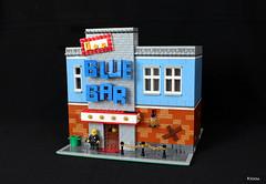 Le F** Blue Bar (Kloou.) Tags: lego kloou bar blue artist legoartist toys toy photo brick alsace france arttoy art afol photography legoart legographie moc modular batiment building construction