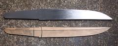 Tant blade: profile filing complete (Bushman.K) Tags: diy swordmaking knifemaking blade steel metalworking
