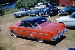 1954 Mercury Monterey at Car Club meeting (rich701) Tags: vintage 35mm color 1950s langhorne pa pennsylvania carclub automobileclub 1954mercury bthriftyfoods texaco youcantrustyourcar