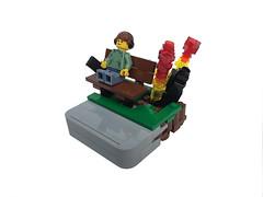 Mr. Oblivious (noel.peterson) Tags: lego vignette ipod music bomb explosion
