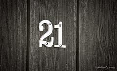 145/366 21 Again (andrew.varney) Tags: number blackandwhite blackwhite monochrome closeup nikon d5100 365 366