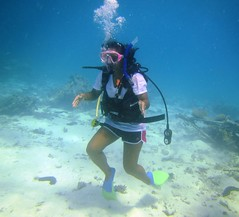 Stand Up (DivePhoto) Tags: kh scuba diver daughter