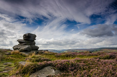 Over Owler Tor in High Summer (Peter Quinn1) Tags: overowlertor cloudscape peakdistrict heather moorland hathersagemoor surpriseview millstoneedge clouds summer derbyshire