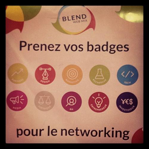 Badges Networking pendant les 2 jours de #blendwebmix ! Toute ressemblance avec ceux de Museomix est fortuite 😊 #blendwebmix #museomix #mxra