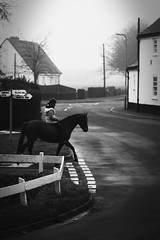 --- (dagomir.oniwenko1) Tags: uk england horses blackandwhite canon candid lincolnshire gb bicker horsewoman canoneos60d