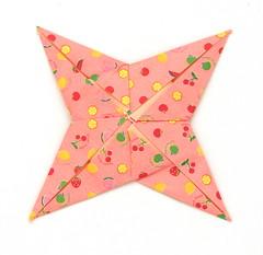 Fujimoto square Rosette  30 back (Pliages et vagabondages) Tags: square origami rosette décoration déco fujimoto