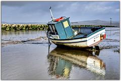 Boat at Morecambe (Digital Wanderings) Tags: blue coast boat morecambe ribc