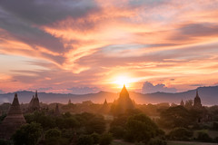Bagan Sunset (TheFella) Tags: travel trees light sunset sky mountains slr architecture clouds digital landscape religious temple photography pagoda photo nikon asia southeastasia cloudy dusk burma stupa buddhist religion buddhism photograph temples processing myanmar rays dslr sunrays burmese plain beams cloudscape crepuscularrays pagan pagodas bagan rangoon crepuscular d800 indochina postprocessing shwesandaw travelphotography stupas mingalazedi unionofmyanmar baganarchaeologicalzone mingalarzedi thefella shwesandawpagoda conormacneill pyidaunzuthanmdamymanainngandaw republicoftheunionofmyanmar mingalarzedipagoda thefellaphotography   mingalazedipagoda