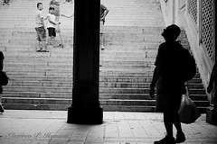Urban wonder.... (Darren P. Hanson) Tags: park nyc people urban bw newyork black stairs blackwhite centralpark manhattan