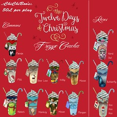 .:ChiChiBoo's:. 12 Days of Christmas Frappe Gacha! (lilchichiboo) Tags: christmas nerd coffee butterfly mouse monkey panda kitty moose days deer sl drinks secondlife owl animated 12 pitt rare frappe gacha chichiboos