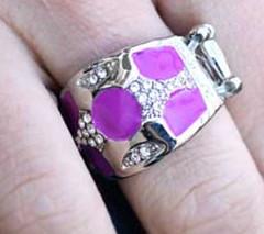 Glimpse of Malibu Purple Ring K2 K4161A-4