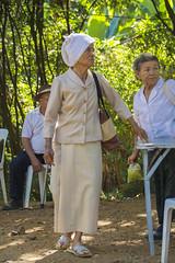 Towel hat (Lode Engelen - ) Tags: old woman hat thailand towel chiangmai local sanpatong watthamnaamhu