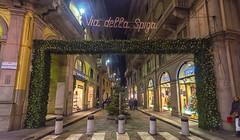 Via della Spiga (Fil.ippo) Tags: christmas xmas milan fashion night milano moda decoration ornament filippo montenapoleone viadellaspiga sigma1020 d7000 filippobianchi