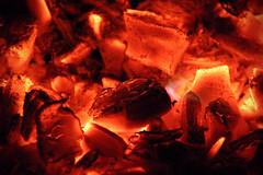 burning .. (momirage) Tags: red hot fire warm bbq flame burn heat ash coal