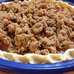 "In about forty minutes, this Bourbon Peach Pie will be golden brown and cooling on the counter in our farmhouse kitchen. I'm the meantime, the whole house is going to smell delicious!  #pie #baking #bourbon • <a style=""font-size:0.8em;"" href=""http://www.flickr.com/photos/54958436@N05/16071592447/"" target=""_blank"">View on Flickr</a>"