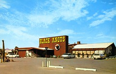Black Angus Scottsdale AZ (Edge and corner wear) Tags: color vintage advertising cards pc postcard company chrome card printing sample production trade koppel
