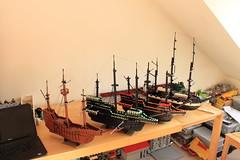Building Boats (peggyjdb) Tags: boats lego charlesdarwin tallship drake christophercolumbus goldenhinde hmsbeagle santamarie brightbricks