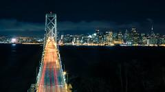 Friday Night Lights (The New No. 2) Tags: california road ca street city travel bridge light red sky