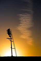 Sunset (Hendebak) Tags: railroad sunset backlight train nice zonsondergang nikon awesome epic trein d300