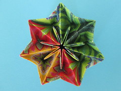 Janet Yelle's Prismatic Star (georigami) Tags: paper origami papel papiroflexia