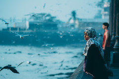 Untitled (harshprk) Tags: street city morning travel blue light red sea portrait sky people urban india black beach nature water girl birds port sunrise dark dawn pier nikon shadows seagull bombay mumbai d5200