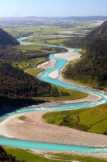 Gletscher Fluss