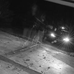 (JustBe.Photography by Jessica Crosby) Tags: longexposure blackandwhite home nikon experimental go headlights skate skateboard mm ghostly bnw apparition starburst justbe d5100 justbephotography nikond5100 photographybyjessicacrosby jessicacrosby