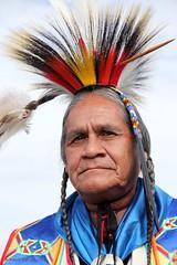 Native American Chief at the Powwow (Robert F. Carter) Tags: nativeamerican nativeamericanindian powwow indian warrior nativeamericanwarrior metis people crookedtreephotographicsociety petoskeyphotographyclub petoskeycameraclub ourbeautifulworld passiton robertcarterphotographycom ©robertcarter