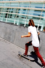 Just GOING ON (TheGeniusLoci) Tags: boy red guy skating skate macba