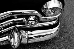 Chrome (1/4th) Tags: blackandwhite bw cars monochrome japan nikon automobile autoshow cadillac bumper chrome  nikkor shizuoka oyama classiccars carshow fujispeedway  cadillacdeville  worldcars 2470mmf28g nikon2470mmf28 d7000   amefes  superamericanfestival superamefes2013
